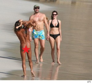 Kelly Brook and Billy Zane in st barths