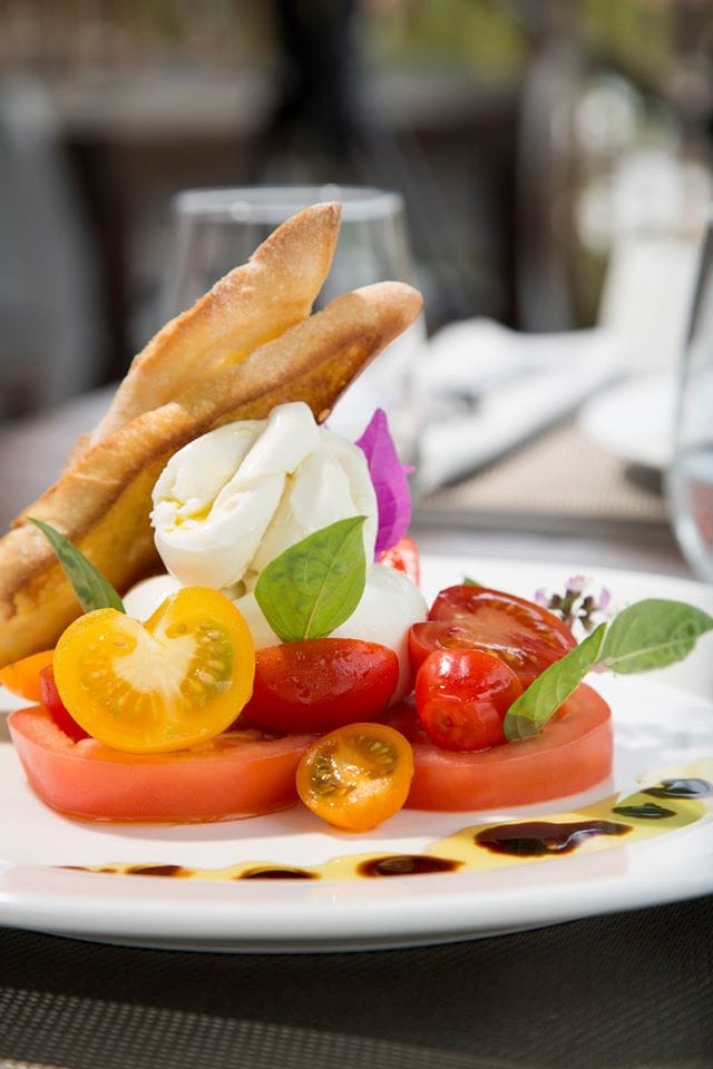 Carefully plated decadent tomato by Chef Jean-Georges - Photo courtesy from Eden