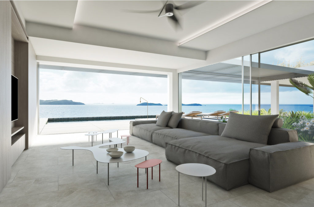 villa domingue st barths living room